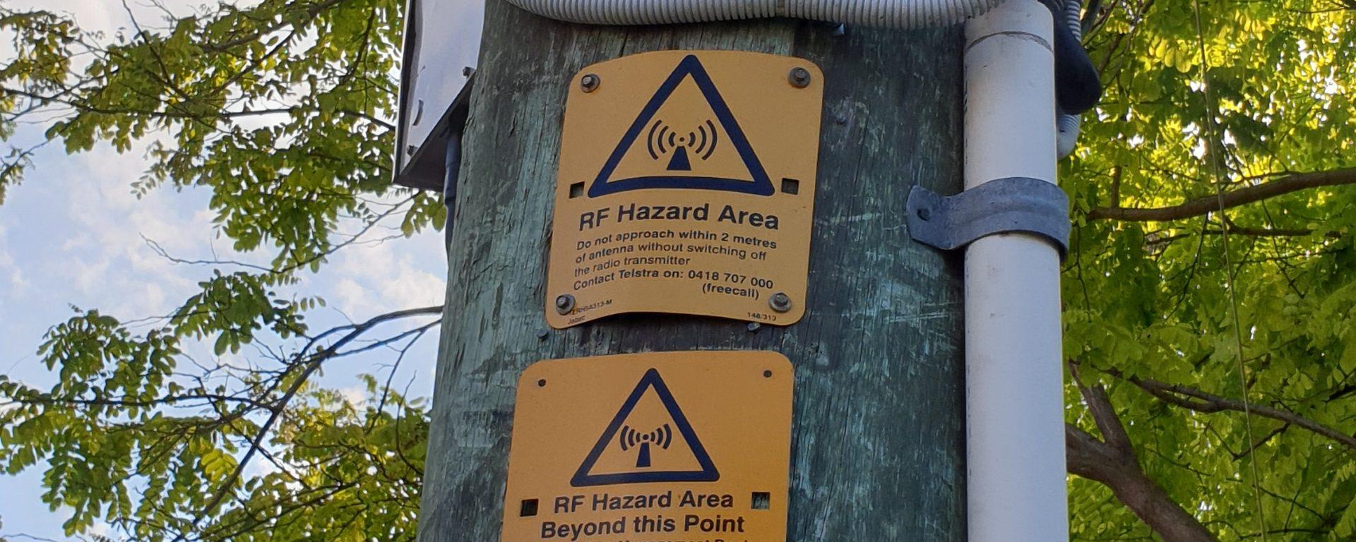 5G RF warnings