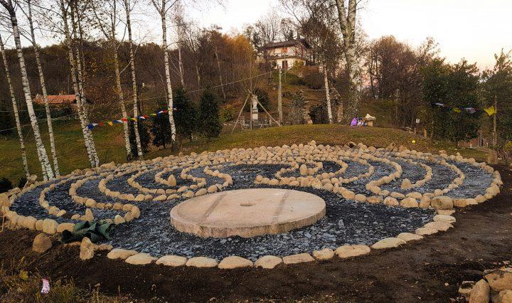 Mandali labyrinth at sunset