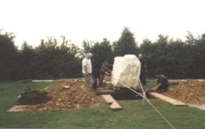 the stone moves into position