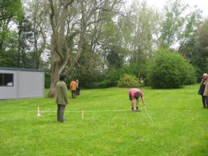 marking out the labyrinth