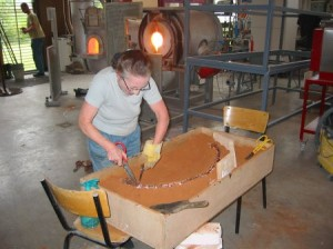 Sand moulding in the Hot Room
