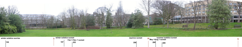 landscape panorama of labyrinth site.