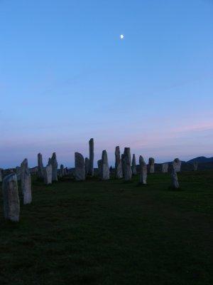 Moon over stones
